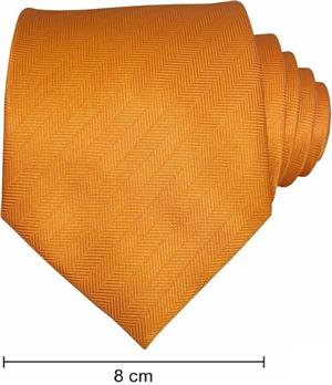 Plain Fishbone Ties - Orange