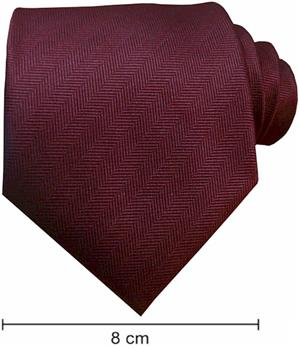 Plain Fishbone Ties - Maroon