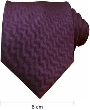 Plain Fishbone Ties - Purple