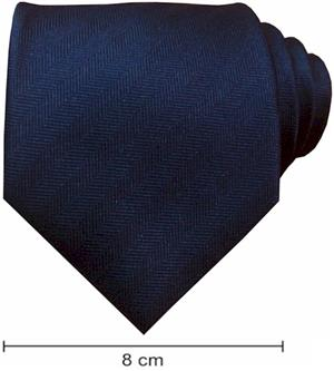 Plain Fishbone Ties - Dark Navy