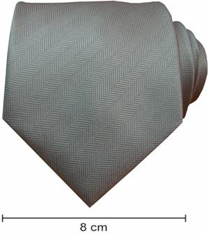 Plain Fishbone Ties - Light Grey