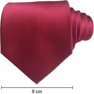 Plain Full Satin Ties - Maroon