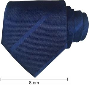 Plain Satin Striped Ties - Dark Navy