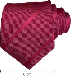 Plain Satin Striped Ties  - Maroon