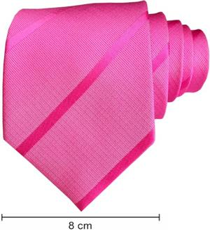Plain Satin Striped Ties - Pink