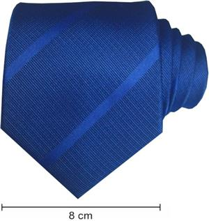 Plain Satin Striped Ties - Royal Blue